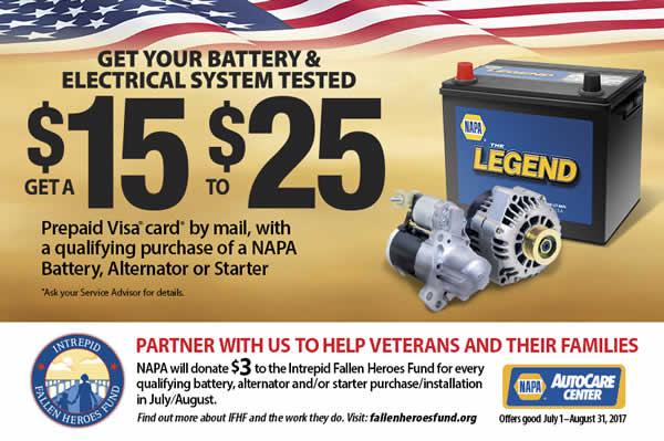 Electrical systems - batteries, alternators, starters