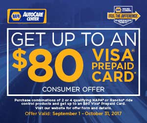 Shocks and struts installed - get up to $80 back. Albuquerque's best auto repair shops - NAPA AutoCare Centers