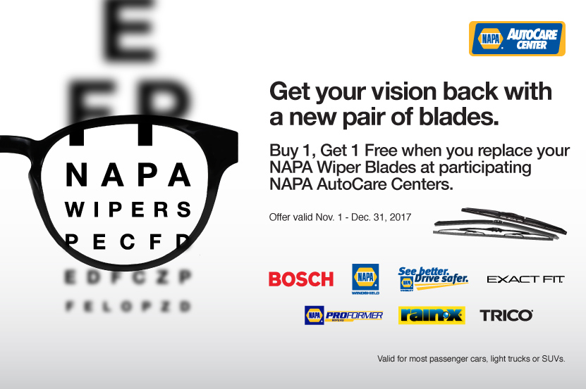 Wipers Buy One Blade Get One Free, wiper blades