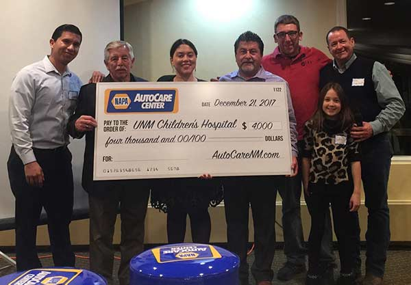 NAPA and NAPA AutoCare Centers donate $4,000 to Children's Miracle Network