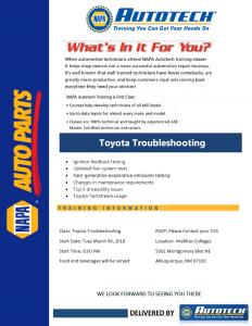 Toyota Troubleshooting