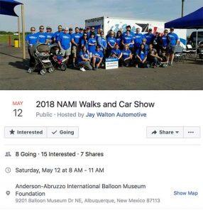 NAMI Walks and Car Show @ Balloon Fiesta Museum | Albuquerque | New Mexico | United States