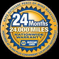 NAPA AutoCare Nationwide Warranty