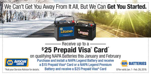 Coupon - $25 off car battery