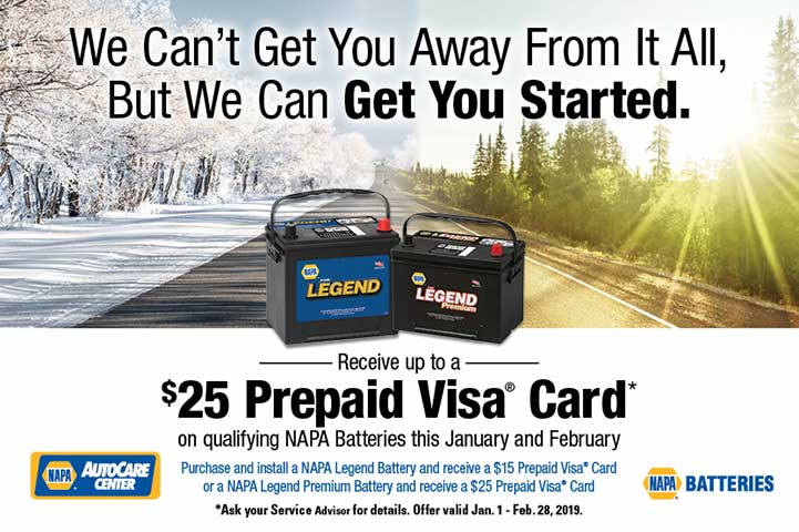 Get up to $25 dollars back on NAPA Battery