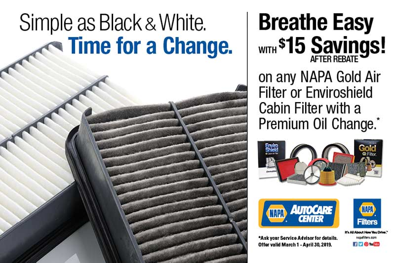 Save on filters with oil change