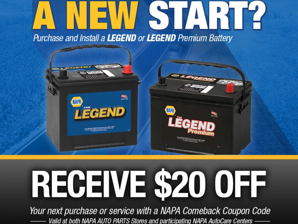 $20 off next service withCar Battery purchase