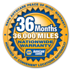 36 Month 36,000 Mile Nationwide Warranty