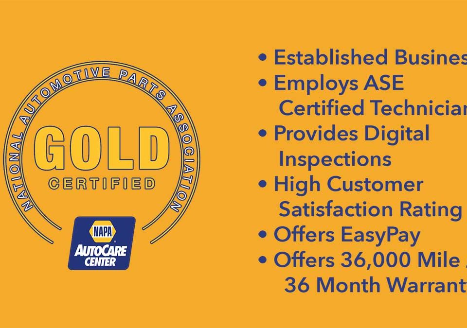 NAPA Gold Certified