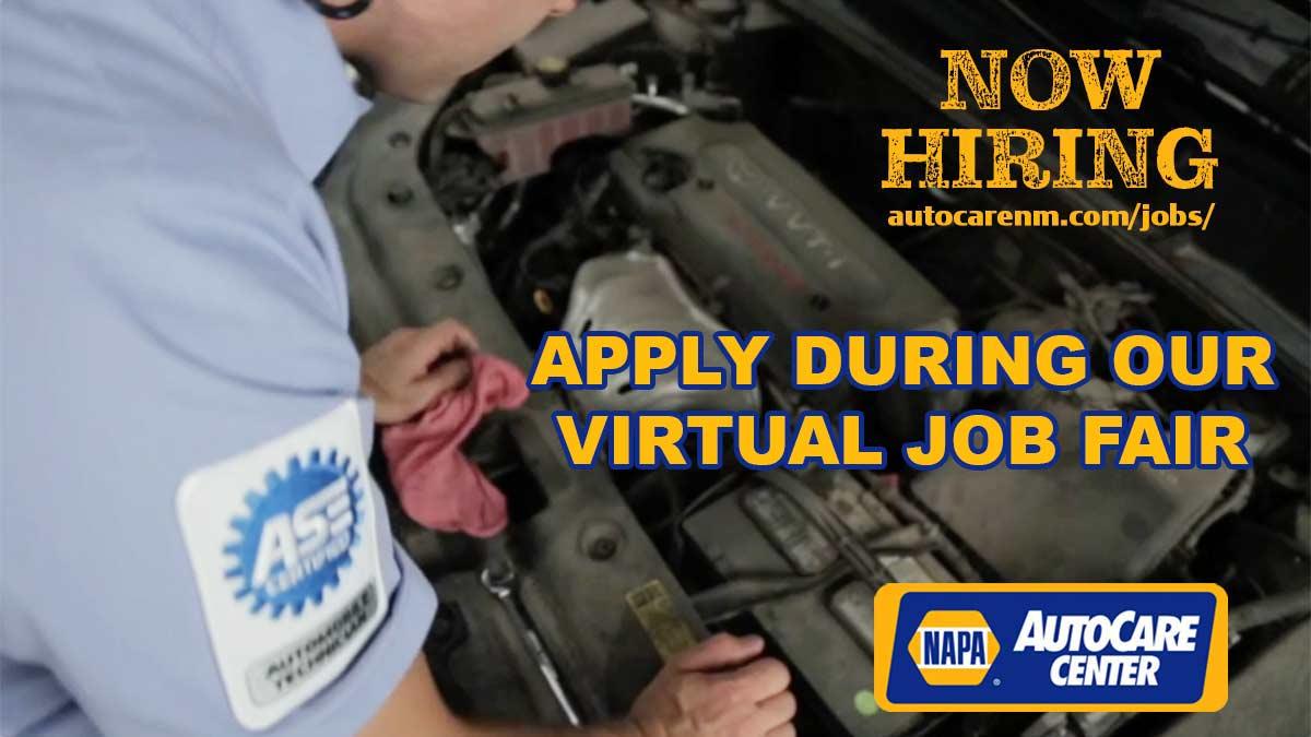 NAPA AutoCare Virtual Job Fair