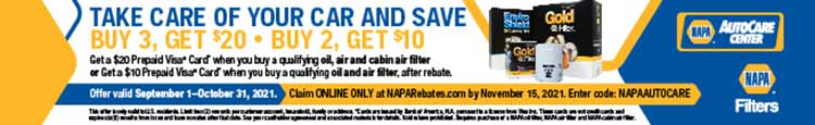 Get Money Back on NAPA Filters